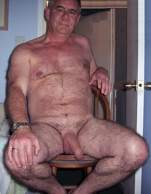 Older mature grandpa shows cock suit think